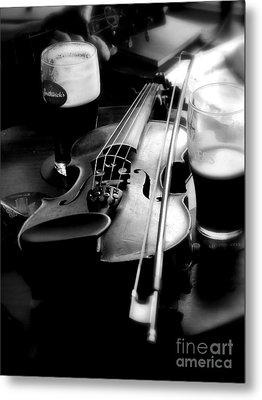 Irish Fiddle On A Break Metal Print