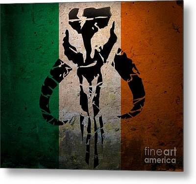 Irish Mandalorian Metal Print