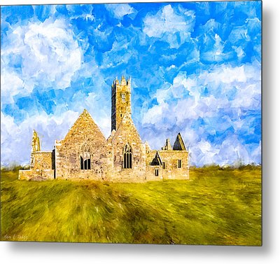 Irish Monastic Ruins Of Ross Errilly Friary Metal Print