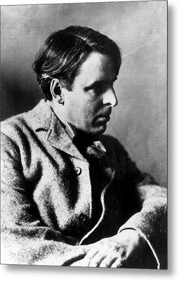 Irish Poet William Butler Yeats Metal Print