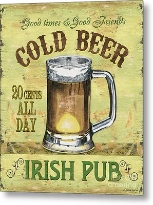 Irish Pub Metal Print