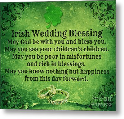 Irish Wedding Blessing Metal Print
