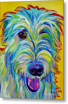 Irish Wolfhound - Angus Metal Print by Alicia VanNoy Call