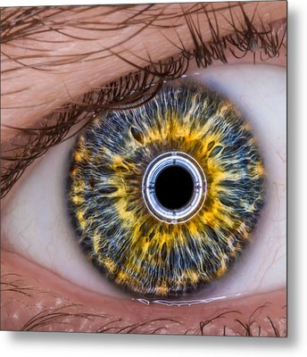 Metal Print featuring the photograph iRobot Eye v2.o by TC Morgan