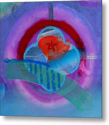Metal Print featuring the painting Iron Butterfly by Charles Stuart