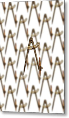 Metal Print featuring the photograph Iron Compass Pattern by YoPedro
