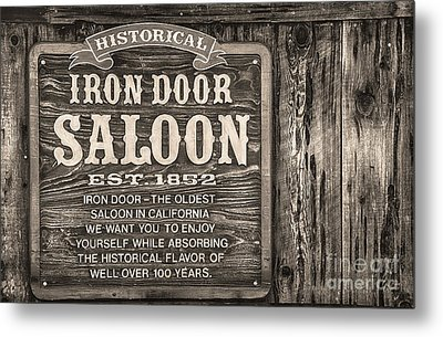 Iron Door Saloon 1852 Metal Print