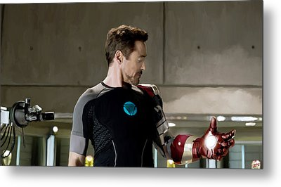 Iron Man 3 Metal Print