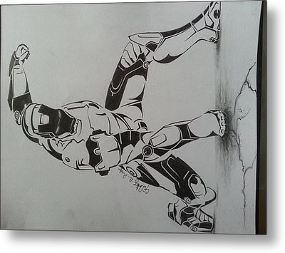 Iron Man Metal Print by Timothy Raj