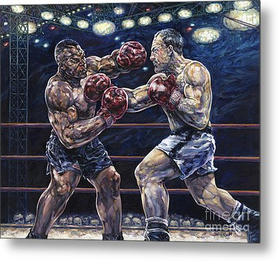 Iron Mike Vs. Rocky Metal Print by Dennis Goff