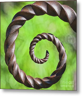 Iron Spiral Metal Print by Stephanie Hayes