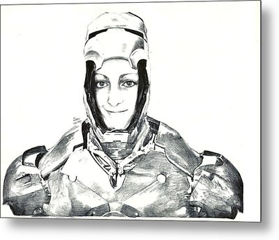 Iron Woman Metal Print by Benjamin McDaniel