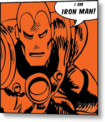 Ironman Metal Print by Andrea Meneghini