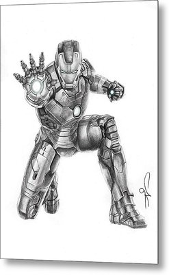 Ironman Metal Print by Artistyf