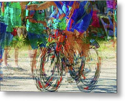 Ironman Bicyclist 2109 Metal Print by David Mosby