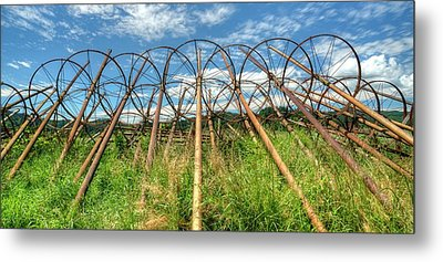 Irrigation Pipes 1 Metal Print by Jerry Sodorff