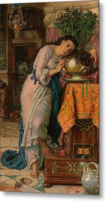 Isabella And The Pot Of Basil Metal Print