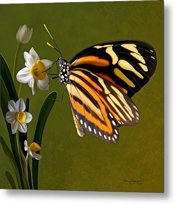 Isabella Tiger Butterfly Metal Print