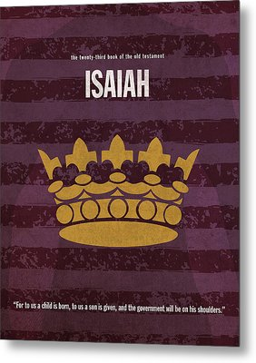 Isaiah Books Of The Bible Series Old Testament Minimal Poster Art Number 23 Metal Print