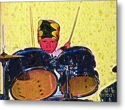 Isaiah The Drummer Metal Print by Deborah MacQuarrie-Selib