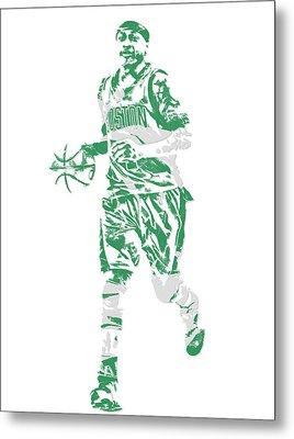Isaiah Thomas Boston Celtics Pixel Art 17 Metal Print