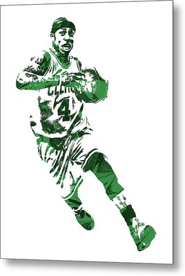 Isaiah Thomas Boston Celtics Pixel Art 5 Metal Print