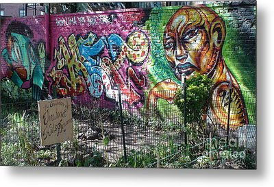 Metal Print featuring the photograph Isham Park Graffiti  by Cole Thompson