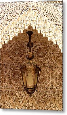 Islamic Plasterwork Metal Print by Ralph A  Ledergerber-Photography