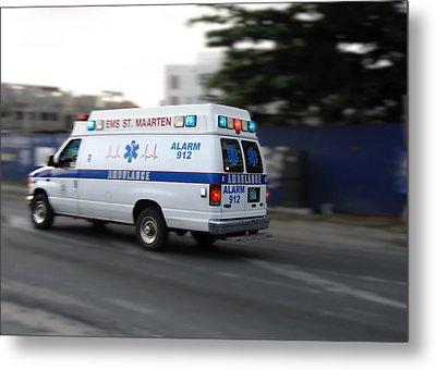 Island Ambulance Metal Print