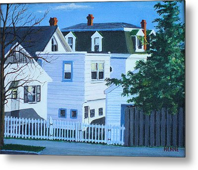 Island Heights Back Yards Metal Print by Robert Henne