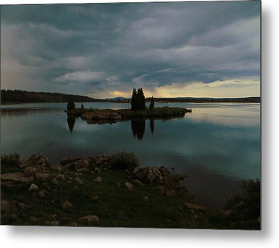 Island In The Storm Metal Print