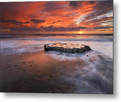 Island In The Storm Metal Print by Mike  Dawson