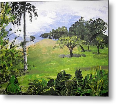 Metal Print featuring the painting Island Mood by Judy Via-Wolff