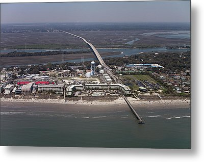 Island Of Palms South Carolina Aerial Metal Print