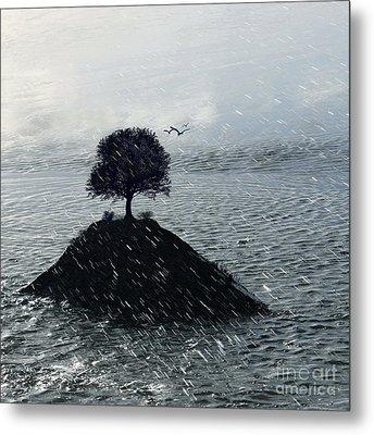 Island Rain Metal Print by Varinia Blyth