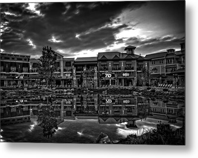 Island Reflection In Black And White Metal Print by Greg Mimbs