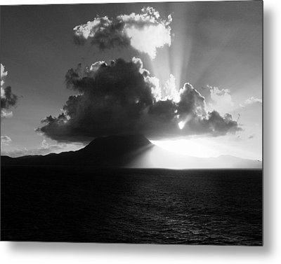 Island Sunrise 2  Metal Print by Perry Webster