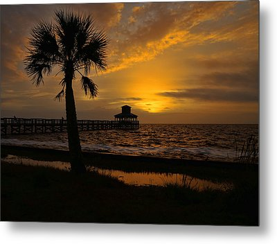 Island Sunrise Metal Print by Judy Vincent