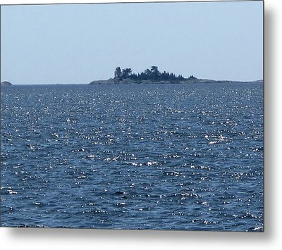Islands At The Edge Of Georgian Bay  Metal Print
