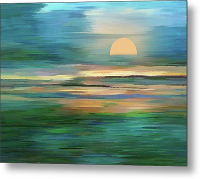 Islands In The Sunset Abstract Realism Metal Print by Georgiana Romanovna