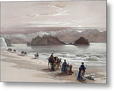 Isle Of Graia Gulf Of Akabah Arabia Petraea Feby 27th 1839 Metal Print by Munir Alawi