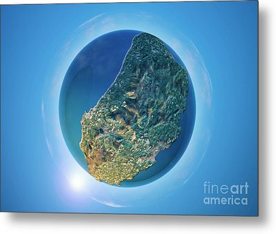 Isle Of Man 3d Little Planet 360-degree Sphere Panorama Metal Print by Frank Ramspott