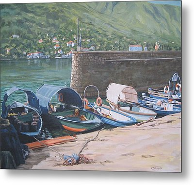 Isola Pescatori Fishing Boats Metal Print