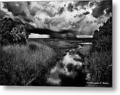 Isolated Shower - Bw Metal Print