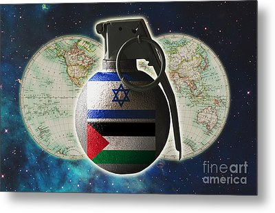 Israel And Palestine Conflict Metal Print by George Mattei
