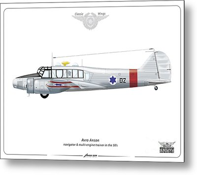 Israeli Aie Force Avro Anson #02 Metal Print by Amos Dor