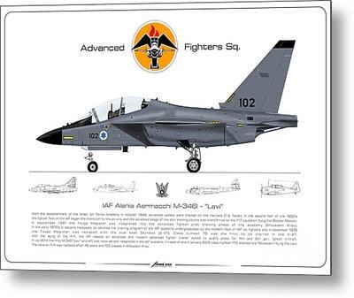 Israeli Air Force Advanced Fighters Sqd. M-346 Lavi  Metal Print by Amos Dor