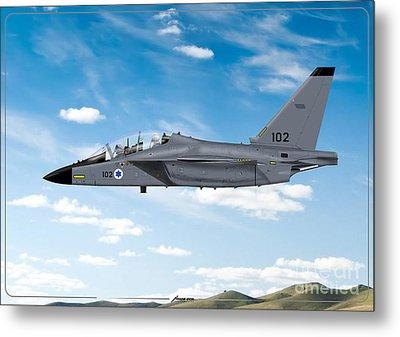 Israeli Air Force Airmacchi M-346i Master Lavi In Flight Metal Print by Amos Dor