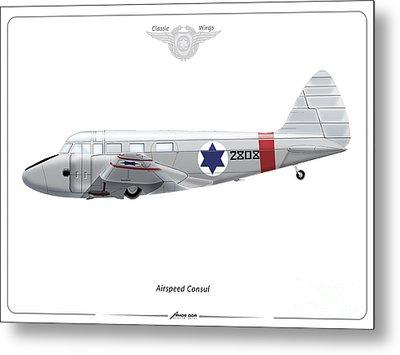 Israeli Air Force Airspeed Consul #2808 Metal Print by Amos Dor