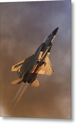 Metal Print featuring the photograph Israeli Air Force F-15i by Amos Dor